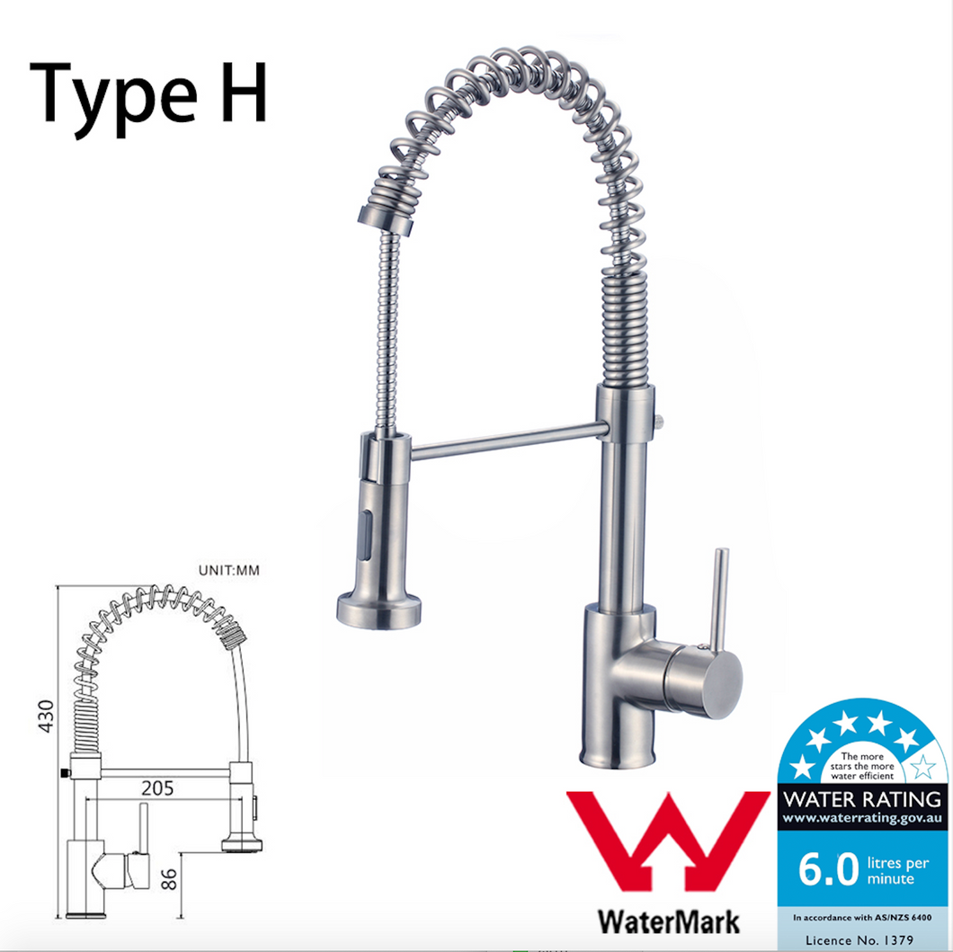 WELS Kitchen Bathroom Laundry Shower Water Basin Mixer Tap Vanity Sink Faucet -Type H