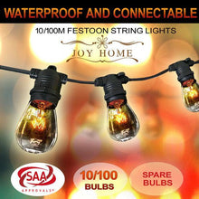 Load image into Gallery viewer, 80m Festoon String Lights Light Wedding Party Christmas Waterproof Outdoor