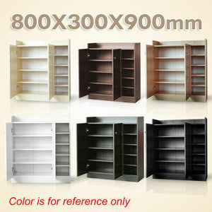 Wooden Shoe Cabinet Storage Wood Rack 21 Pairs Shoes Maple/Walnut/White/Brown
