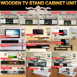 Wooden TV Stand Entertainment Side Cabinet Unit Storage Drawers Cabinet