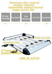 140*100 Sliver Aluminium AlloySUV 4x4 RoofRack Basket Cargo Luggage Carrier Box