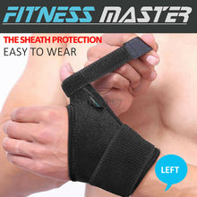 Load image into Gallery viewer, Thumb Wrist Support Wrap Strap Compression Hand Brace Protector Carpal Tunnel LR