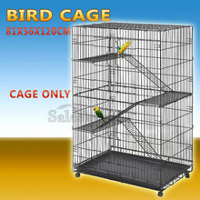 Load image into Gallery viewer, 4 Level Bird Cage Ferret Pet Cat Hamster Rat Budgie Stainless Castor Wheel