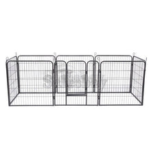 Load image into Gallery viewer, Heavy Duty 8 Panel Pet Playpen Portable Exercise Cage Fence Dog Puppy Rabbit