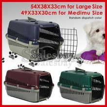 Load image into Gallery viewer, Portable Plastic Dog Cat Pet Pets Carrier Travel Cage w Front Doors House Kennel