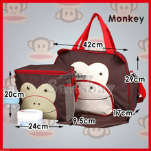 Load image into Gallery viewer, Nappy Changing Bag Baby Diaper Travel Tote Handbag Bottle Holder Mat+Organizer