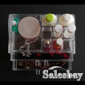 Acrylic Jewellery & Cosmetic clear Organizer Drawers Cabinet box