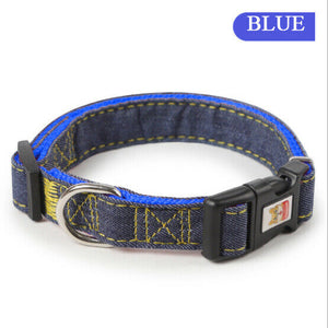 Heavy Duty Adjustable Dog Studded Collar Pet Puppy Neck Strap Harness S/M/L/XL