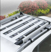 Load image into Gallery viewer, 140*100 Silver Single Aluminium Alloy Car SUV 4x4 Roof Rack Basket Cargo Luggage Carrier Box Bar