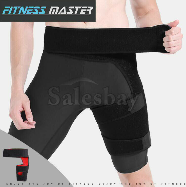 Groin Thigh Support Brace Wrap Hip Leg Compression Hamstring Strain Quad Bandage