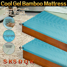Load image into Gallery viewer, 7-Zone Gel Infused BAMBOO Fabric Cover Memory Foam Mattress Topper 5/8CM Sizes