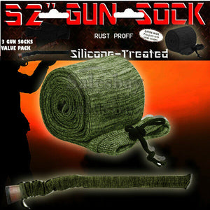 "6X Gun Sock Cover Silicone Treated 52"" Hunting Rifle Shotgun Protection Bag Case"