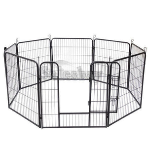 Heavy Duty 8 Panel Pet Playpen Portable Exercise Cage Fence Dog Puppy Rabbit