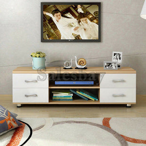 Wooden TV Stand Entertainment Side Cabinet Unit Storage Drawers 120cm