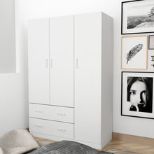 Load image into Gallery viewer, Large Wooden Wardrobe Four Colors 3 Doors 2 Drawers Cloth Racks Furniture