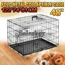 Load image into Gallery viewer, Metal Collapsible Dog Cage Kennel Crate Pet Folding Door Puppy Rabbit Playpen