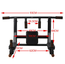 Load image into Gallery viewer, Multi Wall Mounted Adjustable Knee Raise Pull Up Chin Up Bar Dips Station