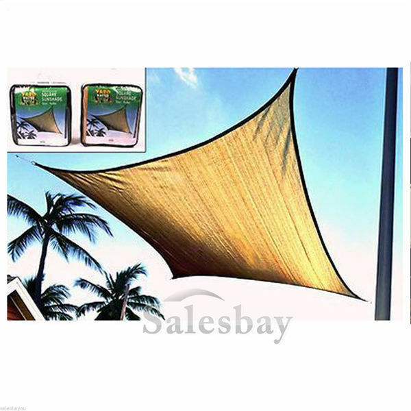 Yardmaster Sun Shade Sunshade Sail SQUARE 4x4m 185gsm beige or green