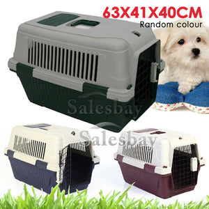 Large Portable Pet Dog Cat Carrier Travel Bag Cage House Safety Lockable Kennel