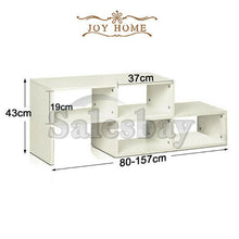 Load image into Gallery viewer, New Extendable Entertainment LED LCD TV Unit Stand Display Cabinet Coffee Table