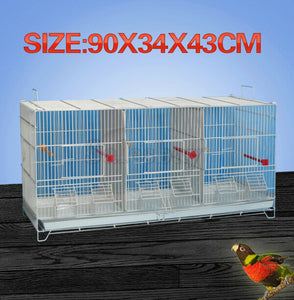 3 in 1 Stackable Breeding Bird Cage for Canary Finch Small Birds