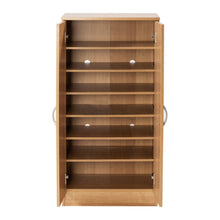 Load image into Gallery viewer, Shoe Cabinet Rack Storage Organiser Cupboard 7 Compartments Oak/White