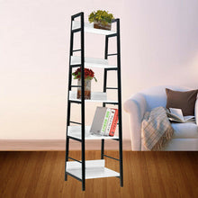 Load image into Gallery viewer, 5 Level  Storage Bookshelf Shelves  Stand Rack Unit Tier Wood Steel 40cm Shelf