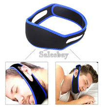 Load image into Gallery viewer, 1x 2x Stop Snoring Chin Strap Device Anti Snore Sleep Apnea Belt Solutions Jaw