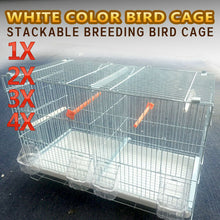 Load image into Gallery viewer, White Color Stackable Breeding Bird Cage for Canary Finch Small Birds