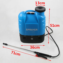 Load image into Gallery viewer, 12V 16L Electric Weed Clean Sprayer Rechargeable Backpack Farm Garden Garage Home Pump Spray