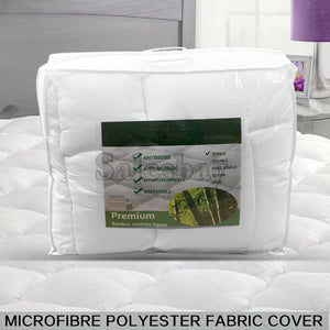 1000GSM Bamboo Fibre Pillowtop Mattress Topper Protector  Pad Cotton Top