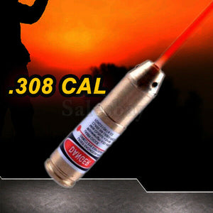Hunting .22-.50 .308 .223 Laser Bore Sighter Cartridge Red Dot Sight Rifle