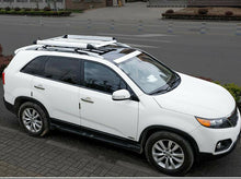 Load image into Gallery viewer, 160*100 Black Single Aluminium Alloy SUV 4x4 Roof Rack Basket Cargo Luggage Carrier Box