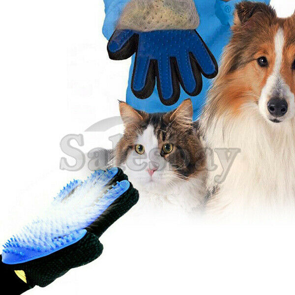True Touch Cleaning Brush Pet Dog Cat Massage Silicone Hair Removal Magic Glove