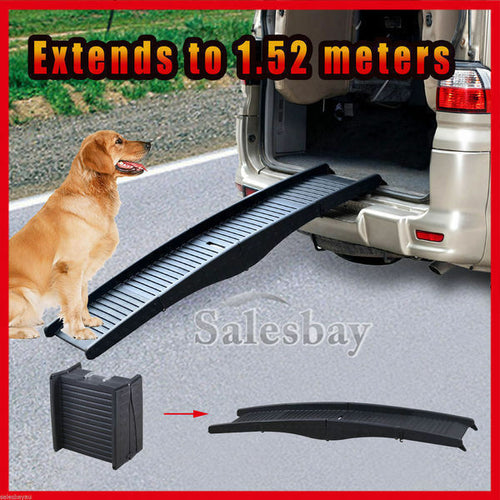 Dog Pet Ramp Foldable Folding Portable Doggie Carry Fold Steps Ladder Stairs