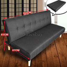 Load image into Gallery viewer, 3 Seater Sofa Bed Lounge Linen Fabric PU Leather Futon Couch