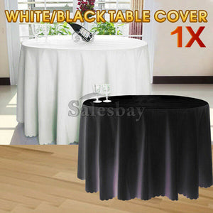 White Round Tablecloths Deco Table Cloth Fibre Wedding Event Party Function