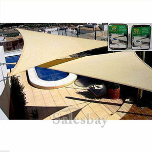 Yardmaster Sun Shade Sunshade Sail Triangle 5x5x5m 185gsm beige or green