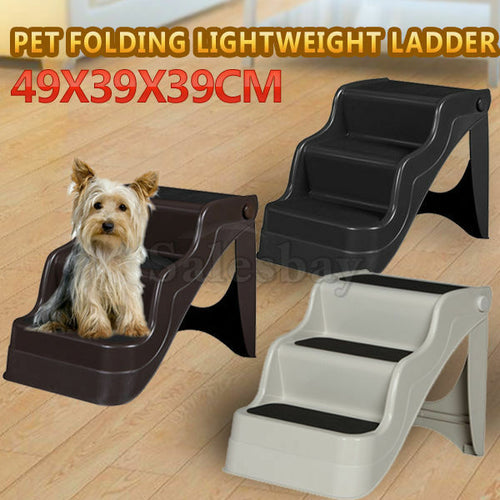Portable 3 Steps Foldable Doggy Cat Pet Dog Stairs Ramp Folding Ladder Stairs