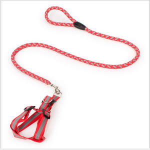 Pet Lead Safety Chain Chest Strap Collar Dog Walk Leash Night Reflection Rope
