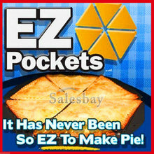 Load image into Gallery viewer, 3pcs Ez Pockets Pie Pans Tools As Seen On TV Easy to Make Recipe Guide