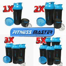 Load image into Gallery viewer, Multi 3in1 GYM Protein Supplement Drink Blender Mixer Shake Shaker Ball Bottle