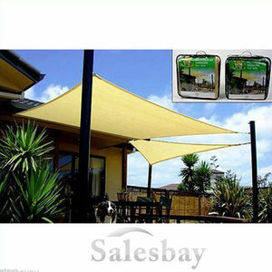 Yardmaster Sun Shade Sunshade Sail RECTANGLE 3x4m 185gsm beige or green