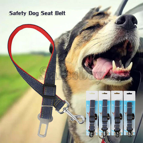Pet Car Vehicle Safety Dog Seat Belt Harness Adjustable Lead Seatbelt 2.5*70cm