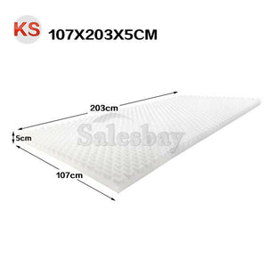 5cm Egg Crate Support Mattress Topper Bed Underlay Bedding Protector