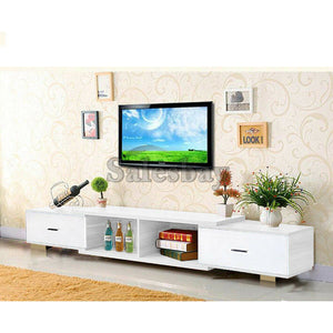 Wooden TV Stand Entertainment Unit Upto 150CM Cabinet Plasma LCD LED Lowline