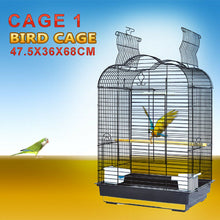 Load image into Gallery viewer, Pet Bird Cage Parrot Aviary Canary Budgie Finch Perch Black Portable w/ Perches