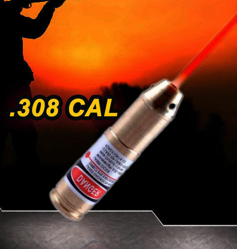 .308 CAL Laser Bore Sighter Hunting Cartridge Red Dot Sight Boresighter Rifle