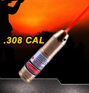 Hunting .308 CAL Laser Bore Sighter Cartridge Red Dot Sight Boresighter Rifle