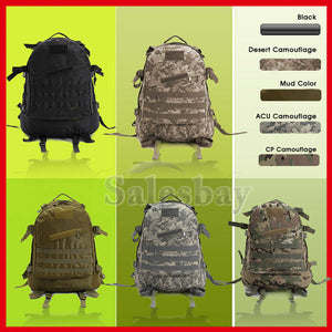 Utility 3D Outdoor MOLLE Military Tactical Rucksack Backpack Hiking Camping Bag